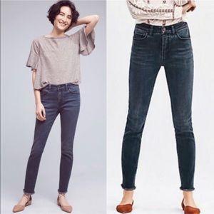 Pilcro and the Letterpress Script raw hem jeans